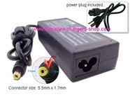 ACER MS2319 laptop ac adapter replacement (Input: AC 100-240V, Output: DC 19V, 3.42A, Power: 65W)